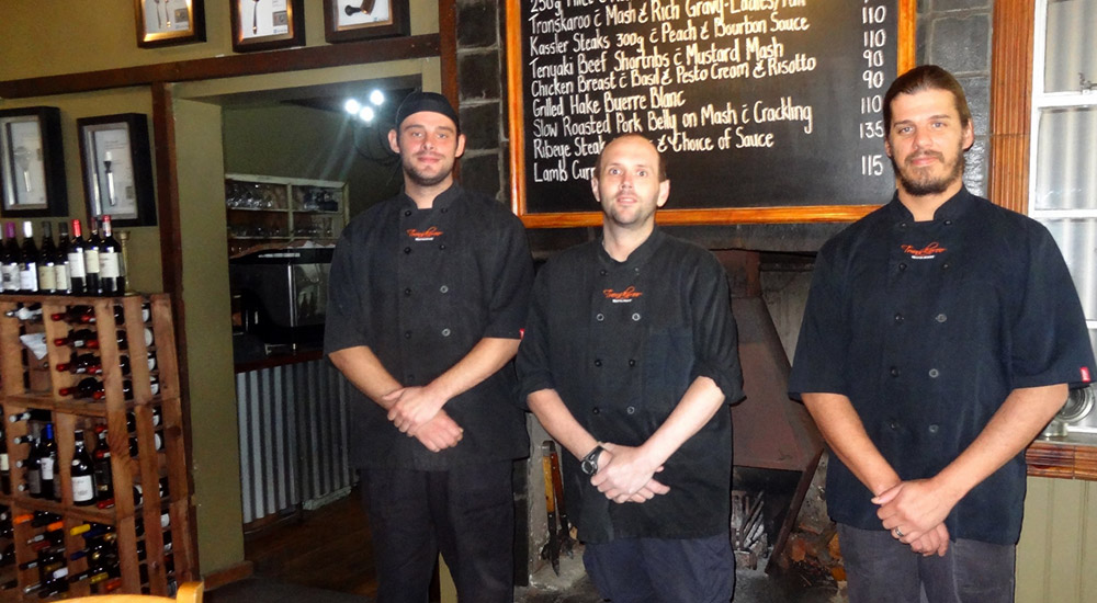 Our three Chefs at Transkaroo Restautant