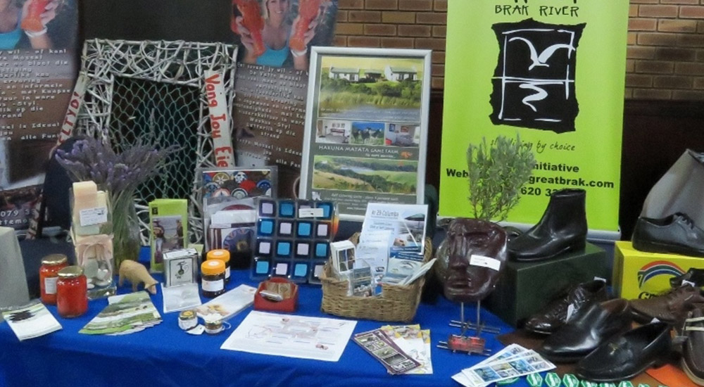 Great Brak Info exhibition with various local products