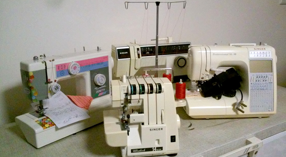 Sewing machines, overlockers and embroidery equipment