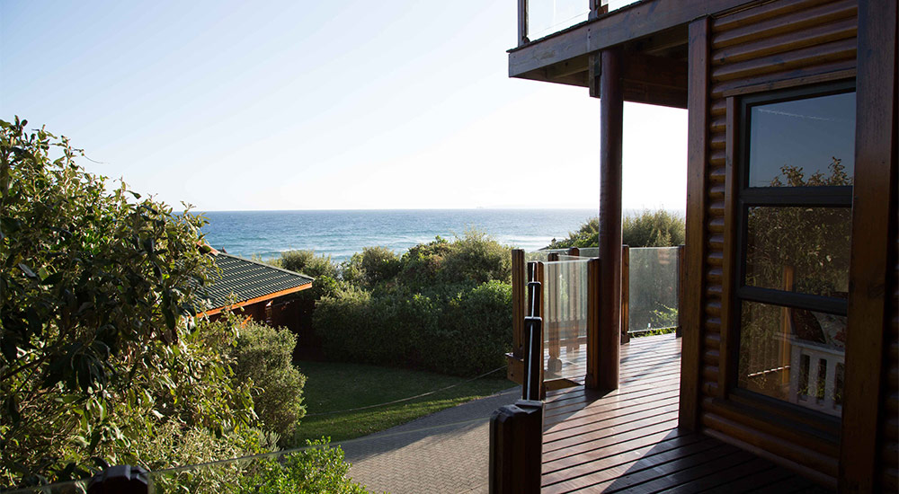 Beautiful ocean views from balcony of The Beach House