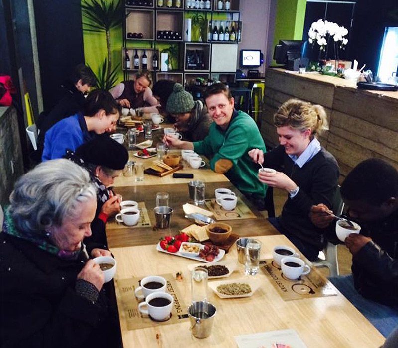 Coffee cupping event